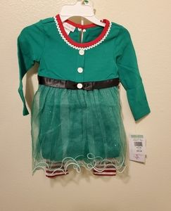 Nwt Bonnie Baby 2 piece Christmas outfit